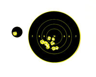 Target with bullet holes in it Royalty Free Stock Photos