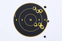Target With Bullet Holes Royalty Free Stock Photo