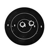 Target with Bullet Holes royalty free stock photography