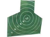 target with bullet holes right in the middle royalty free stock photography
