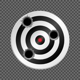 Target with bullet holes. Vector illustration EPS-10 version Stock Images