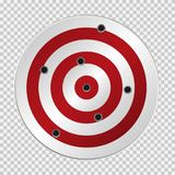 Target with bullet holes. Vector illustration EPS-10 version Royalty Free Stock Photos