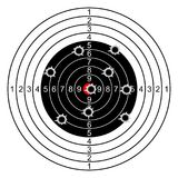 Target with bullet holes - vector. Target with bullet holes - stock vector Stock Photos