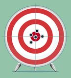 Target with bullet traces in the Center Royalty Free Stock Images