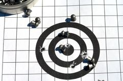 Target and bullets. Royalty Free Stock Photos