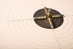 Target and bullets Stock Photo