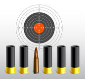 Target and bullets Stock Image