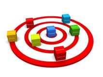 Target business blocks Stock Images