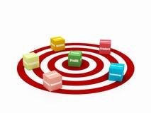 Target Business Blocks Stock Image
