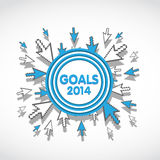 2014 Target Business Goals. Abstract Background royalty free illustration