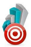 Target Business graph Stock Photos