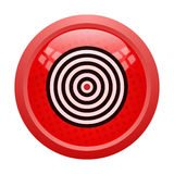 Target button Royalty Free Stock Photo