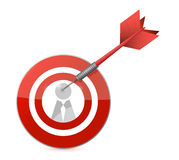 Target candidate concept illustration design Stock Photos