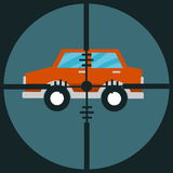 Target car. Scope for target car with blue background Royalty Free Stock Images