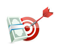 Target cash money illustration design Stock Images