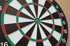Dartboard. The target center of dartboard Royalty Free Stock Image