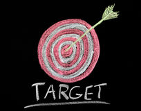 Target on a chalkboard Royalty Free Stock Photo