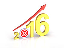 Target Chart 2016 Stock Images