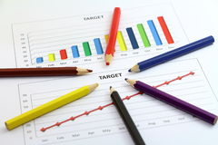 Target chart and team Royalty Free Stock Photos