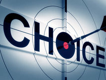 Target Choice Shows Two-way Path Decision Royalty Free Stock Photo