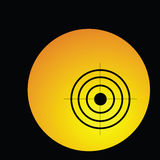 Target in circle illustration Royalty Free Stock Image