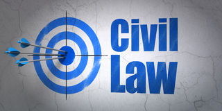 Target and Civil Law on wall background Stock Photos
