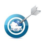 Target cloud computing concept illustration design Stock Photos