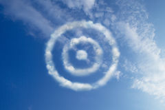 Target cloud shape Stock Photography