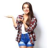 TARGET933_0_ coś atrakcyjna kobieta Zdjęcia Stock