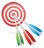 Target color arrows Stock Photos