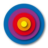 Target colors (vector) Royalty Free Stock Photography