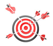 Target concept. Arrows flying to the target Royalty Free Stock Image