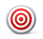 Target concept. Red target with bull s-eye Stock Photos