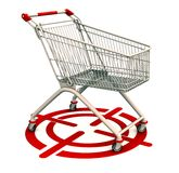 Target consumer group. A shopping cart on target showing targetted consumer group or niche stock illustration
