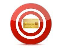 Target a credit card illustration design Stock Images