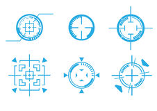 Target crosshair. Differnce type of target crosshair Royalty Free Stock Photography