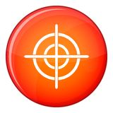 Target crosshair icon, flat style Royalty Free Stock Photography