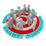 Target Customers - Red Target Royalty Free Stock Image