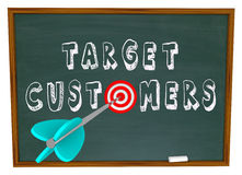 Target Customers - Words on Chalkboard Royalty Free Stock Photos