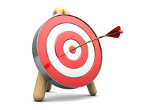 Target. 3d illustration of target with arrow in center Stock Images