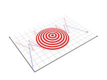 Target. 3d Target on white background Stock Image