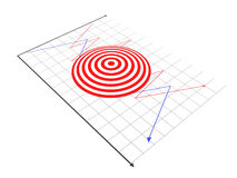 Target. 3d Target on white background Royalty Free Stock Photos