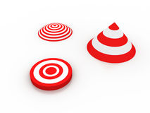 Target. 3d Target on white background Stock Images