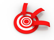 Target. 3d Target on white background Royalty Free Stock Image