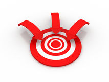 Target. 3d Target on white background Royalty Free Stock Photography
