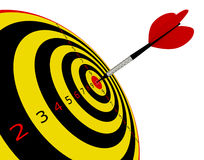 Target in dart stock photography