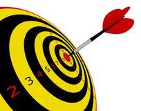 Target in dart. 3d render series: target in dart stock illustration