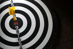 Target dart board and arrow, concept of successful business. Stock Photo