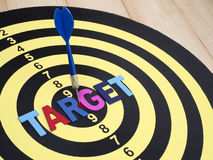 Target on dart board 2 Royalty Free Stock Photos