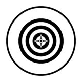 Target With Dart In Center Icon. Thin Circle Stencil Design. Vector Illustration vector illustration